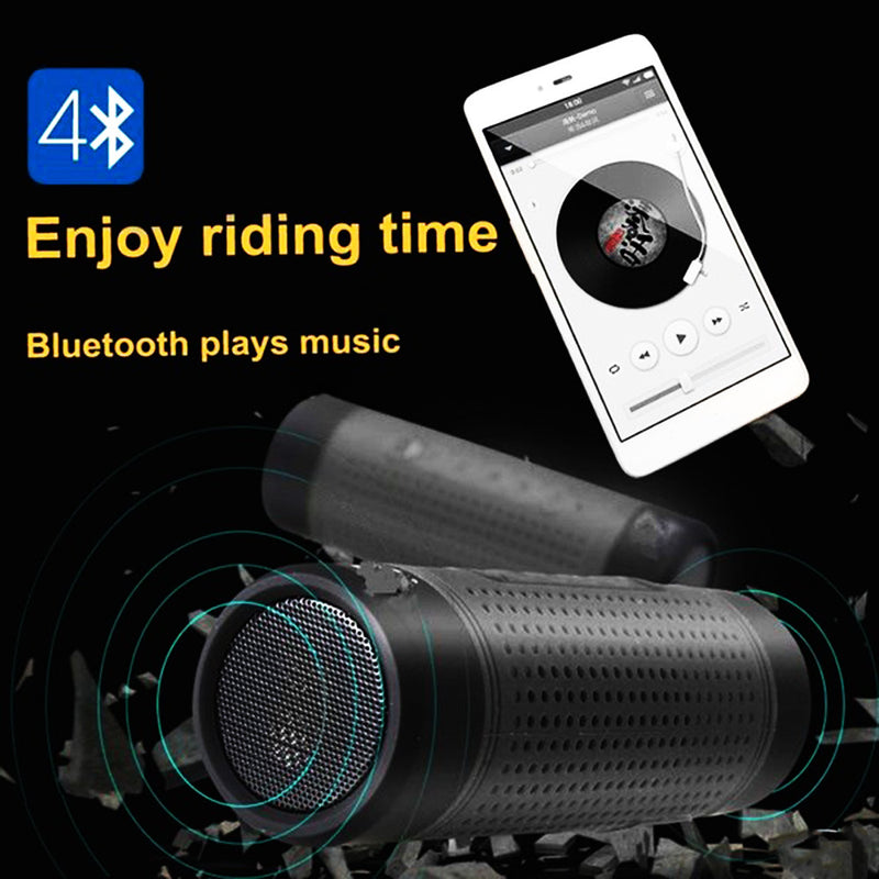 Waterproof Bluetooth Speaker with Flashlight