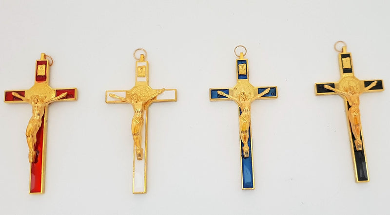 Small Wall Crucifix - 14K gold plated Crucifix