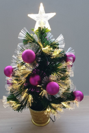 60cm Fibre Optic Christmas Tree with Baubles