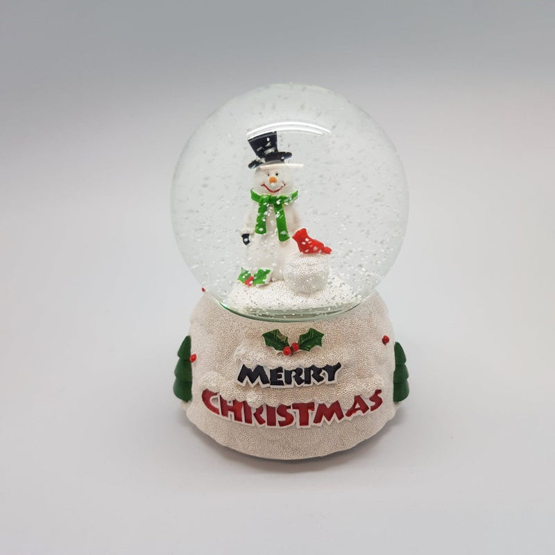 Snowman Globe with Music