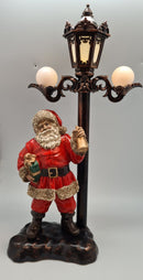 Light up Santa with Lamp statue