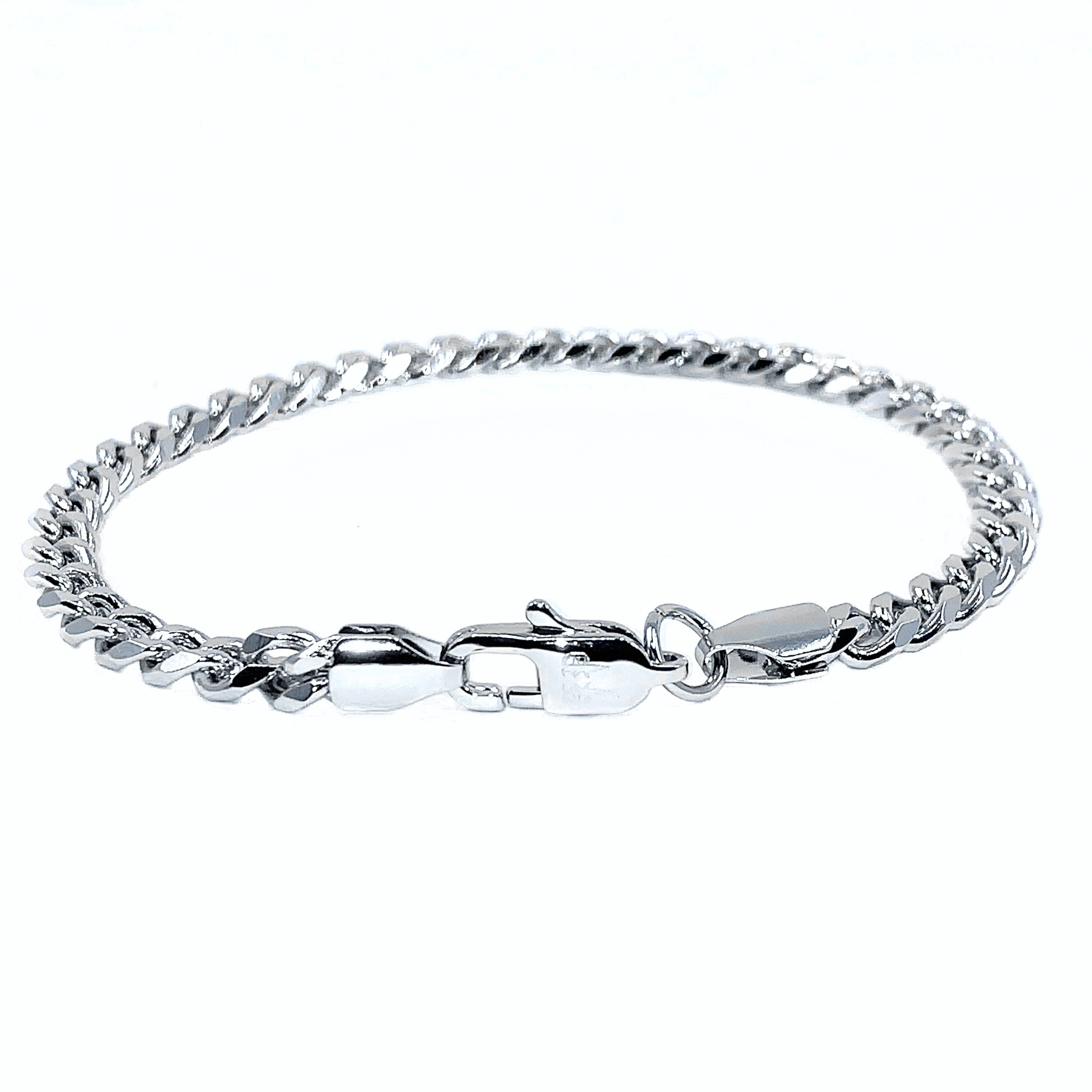 MIAMI CUBAN BRACELET 5MM - WHITE GOLD