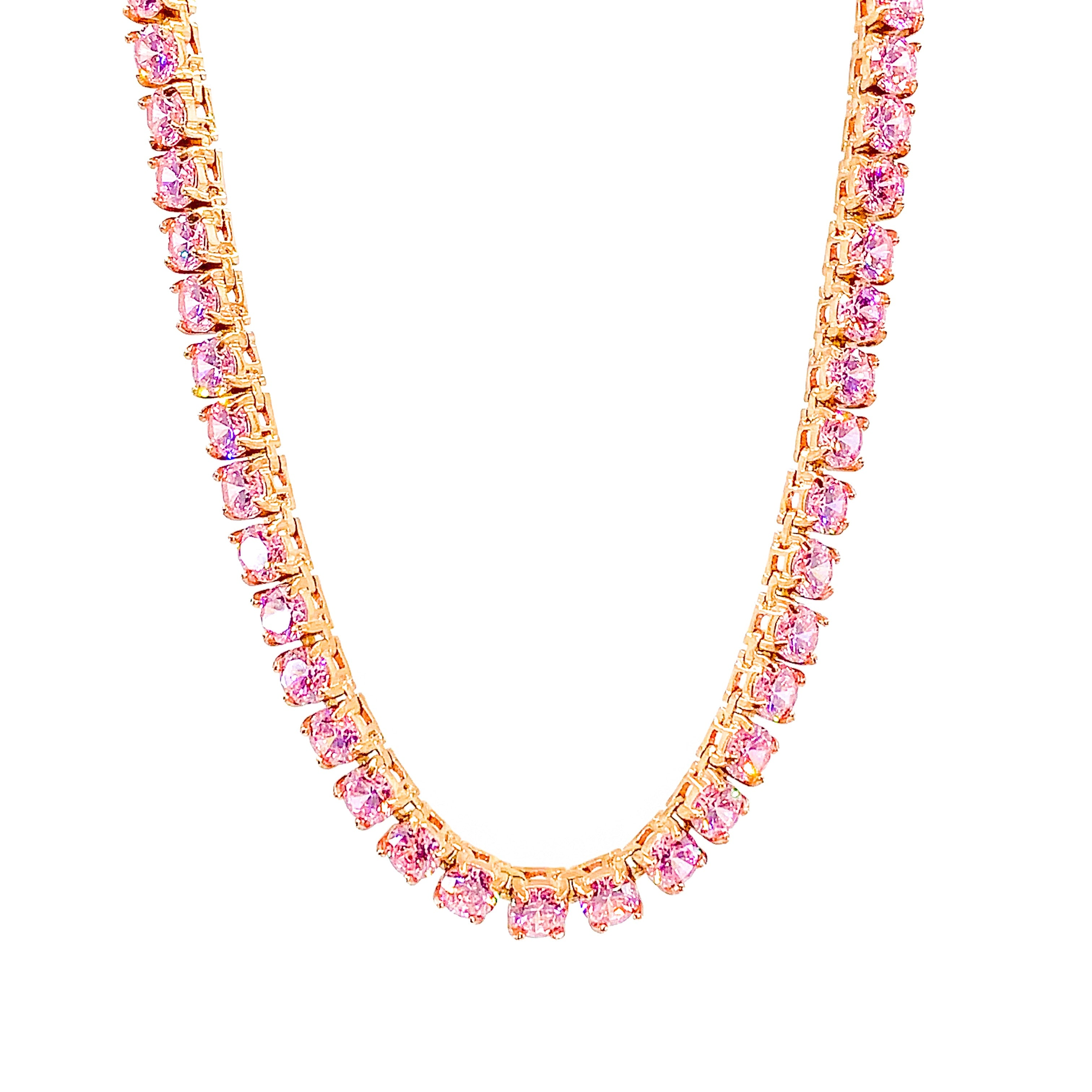 TENNIS CHAIN 5MM ROUND CUT - ROSE GOLD