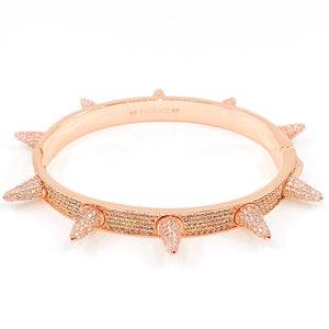 PEREZ-ICED-SPIKED-BRACELET-ROSE-GOLD