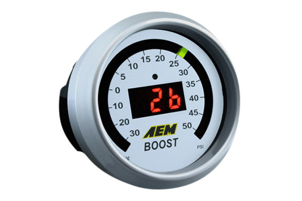 AEM 30-4408 - Digital Boost Gauge (-30 to 50 psi), Universal