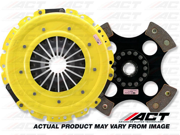 HD 4-Pad Rigid Race Clutch Kit: Honda Accord, Acura, Prelude 1990-2002