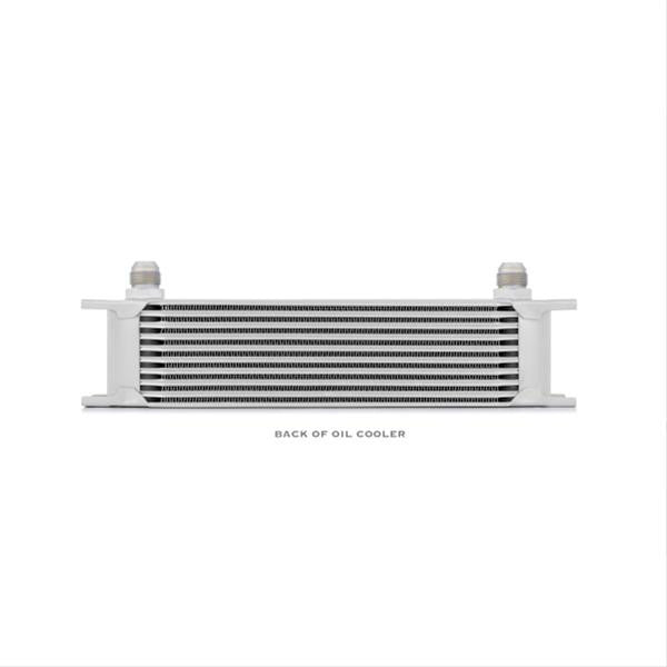 Universal 10 Row Oil Cooler, Silver