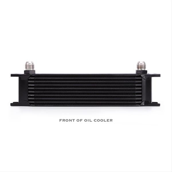 Universal 10 Row Oil Cooler, Black