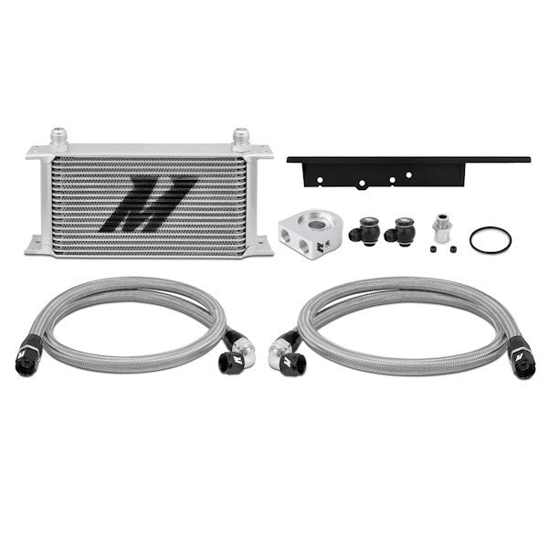 Nissan 350Z, 2003-2009/Infiniti G35, 2003-2007 (Coupe Only) Oil Cooler Kit, Silver, (Thermostatic)