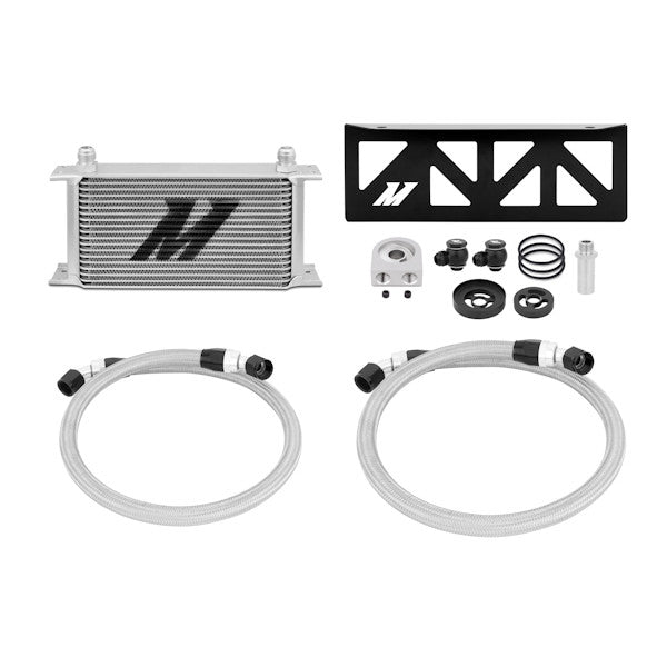 Subaru BRZ / Scion FR-S Oil Cooler Kit, 2013 and Beyond, Silver Thermostatic