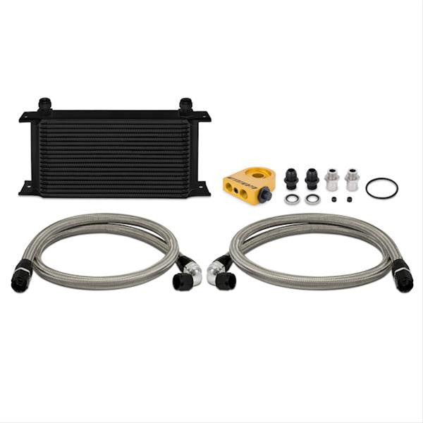 Universal Oil Cooler Kit, 19 Row, Black, Thermostatic
