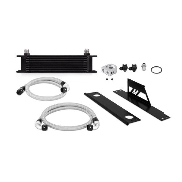 Subaru WRX/STI Oil Cooler Kit, Black, (Thermostatic) 2001-2005