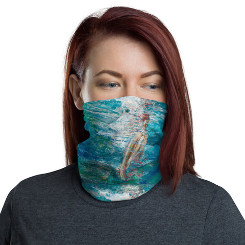 "Neck Gaiter: ""Sorrow Waves & Joy"" By Eva Lewarne"