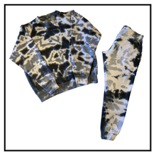 Load image into Gallery viewer, Tie dye crew sweat suit