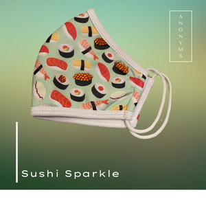 Sparkly Sushi Mask // ANONYMS // Winter 2020-21