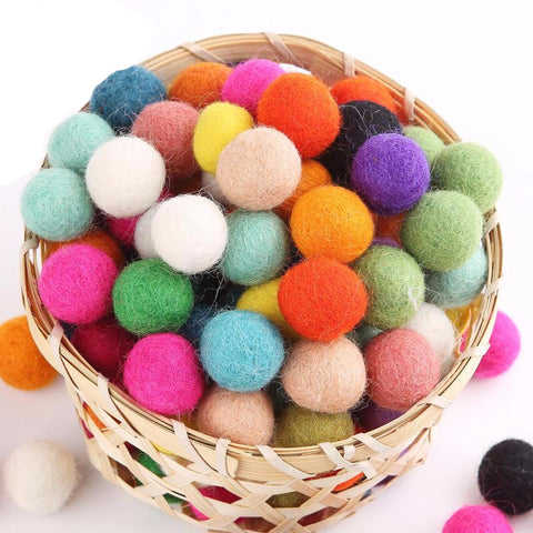 Felted Wool Beads for Kids