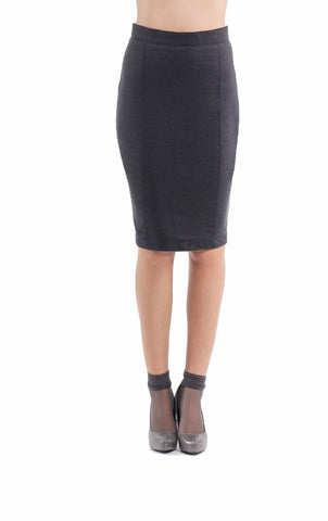 Stretch Pencil Skirt Anthracite - Natal Fashion