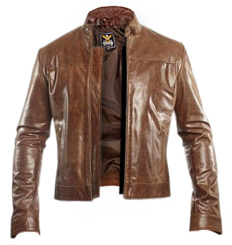 Unisex Dark Brown Genuine Leather Jacket - Natal Fashion