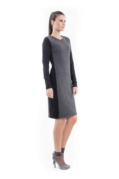Wool Blend Straight Dress - Natal Fashion
