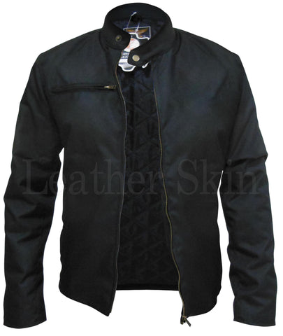 Black Corduroy Quilted Lining Jacket - Natal Fashion