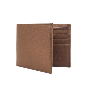 Men's Leather Wallet - Chocolate - Natal Fashion
