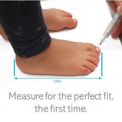 How to measure baby or toddler foot for shoe sizing