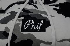 Phil Embroidered Box Logo Pullover Hoodie