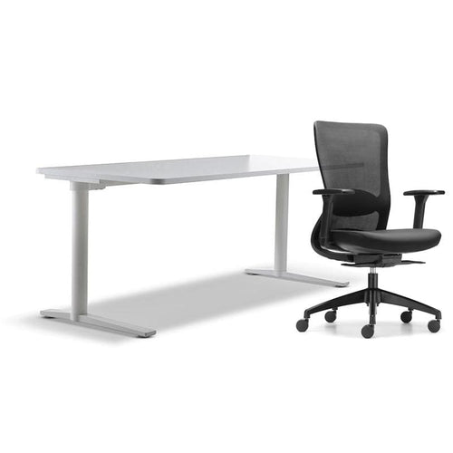 schiavello home office furniture bundle package 1 krossi desk and black dash chair with arms