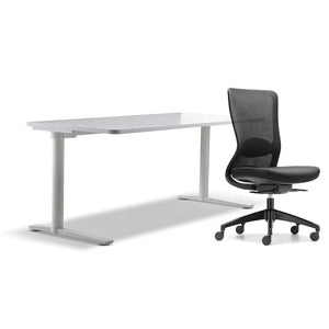 schiavello home office furniture bundle package 1 krossi desk and black dash chair without arms
