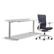 Load image into Gallery viewer, schiavello home office furniture bundle package 1 krossi desk and white dash chair with arms