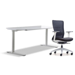 schiavello home office furniture bundle package 1 krossi desk and white dash chair with arms
