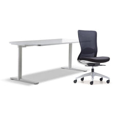 Load image into Gallery viewer, schiavello home office furniture bundle package 1 krossi desk and white dash chair without arms