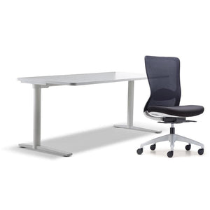 schiavello home office furniture bundle package 1 krossi desk and white dash chair without arms
