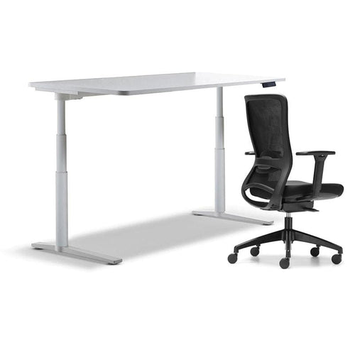 schiavello krossi home office desk electric adjustable height with black frame dash chair with arms