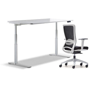 schiavello krossi home office desk electric adjustable height with white frame dash chair with arms