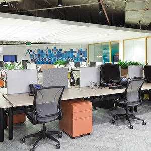 schiavello black world chairs inside commercial office space