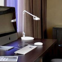 Load image into Gallery viewer, schiavello white LED task light lamp sitting on home office desk