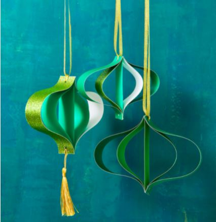 3D Paper Ornaments For Christmas
