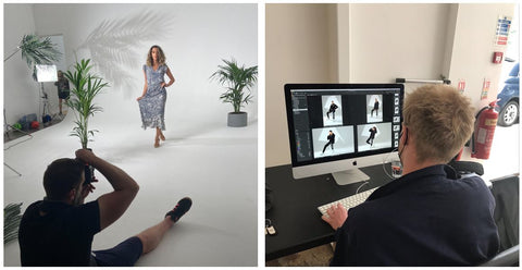 Behind the Scenes & Post Product at The Original Factory Shop Photoshoot