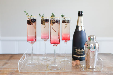 Blackberry Ginsecco Cocktail