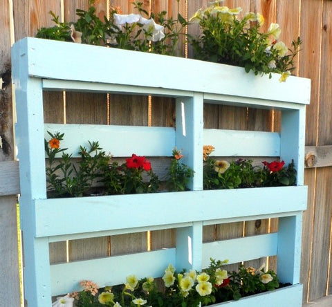 Upcycled Wooden Pallet into a Garden Planter