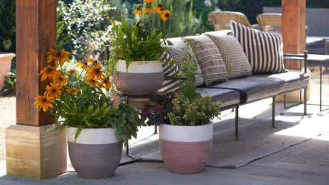 Garden Planters in the Shade