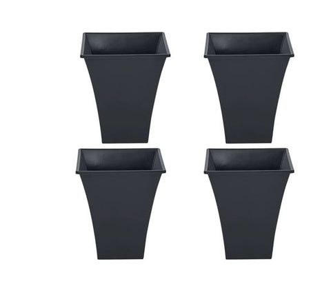 Recycled Square Metallica Planters 23cm - Pack of 4