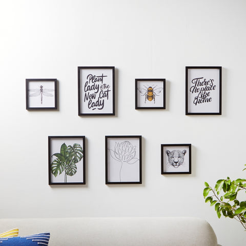 Framed Nature Inspired Prints on Wall