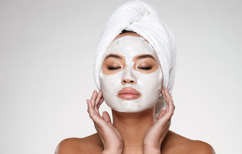 Women with Face Mask On
