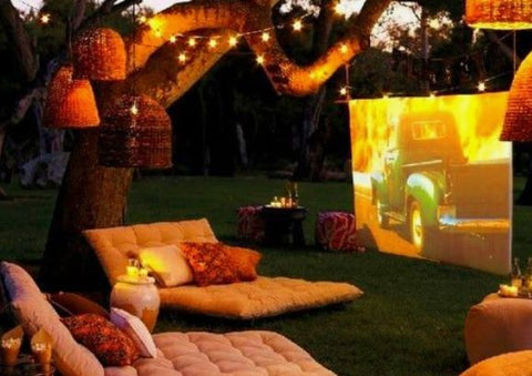 Create a Cosy Outdoor Cinema Seating Area