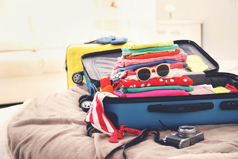 Open Suitcase, Half Packed For Holiday