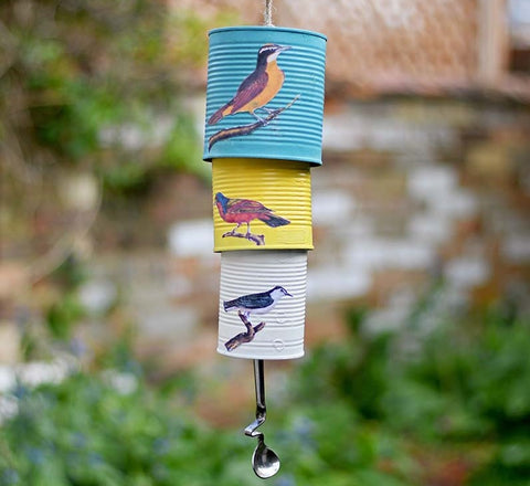 Upcycled Tin Cans into a Wind Chime
