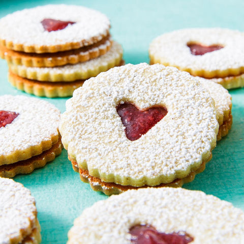 Heart Shaped Jammy Cookies
