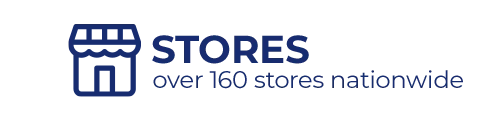 over 160 stores nationwide